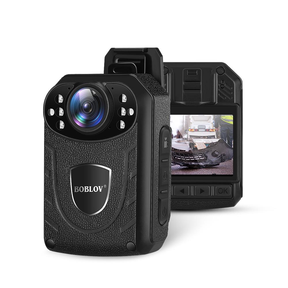 BOBLOV KJ21 1296 P камера для тела, смонтированная камера ночного видения, внешнее хранилище для полицейской безопасности, поддержка 128 Гб TF карты