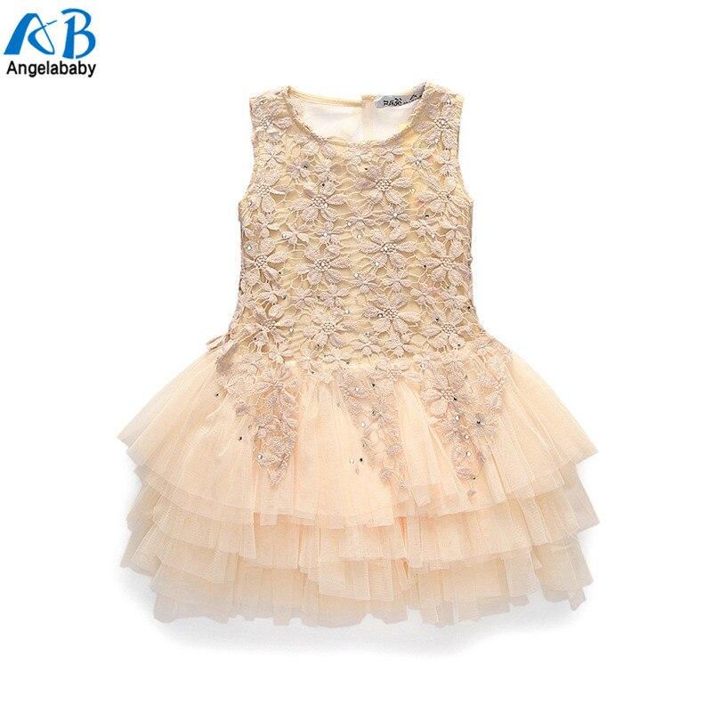 98cb58f7f 2019 Summer New Lace Vest Girl Dress Baby Girl Princess Dress 3-7 Age  Chlidren