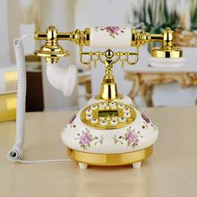 Get more info on the Ceramic European Telephone American - Style Telephone Landline Retro Innovative High - End Telephone Phone for Home Office Decor