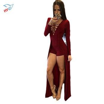 2016 Fashion Sexy Maxi Overlay Rompers Women Jumpsuit Design Combinaison Femme Elegant Femininas Pants bodysuit Playsuit Vestido
