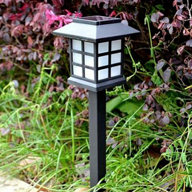 1pc Solar Lawn Pathway Lights Diamond Plastic LED Lights For Outdoor Path  Patio Yard Deck Driveway