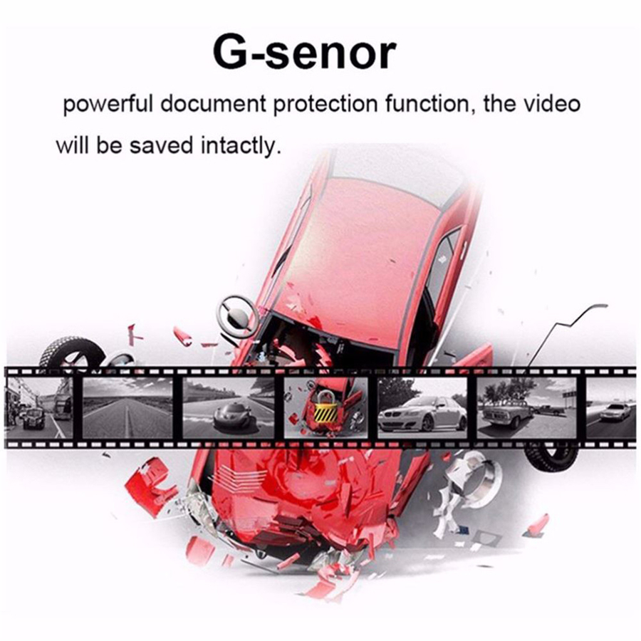 4.0 Inch HD 1080P Dual Lens DVR Dash Cam Video Recorder Rearview Parking Camera Night Vision G-sensor Drop Shipping