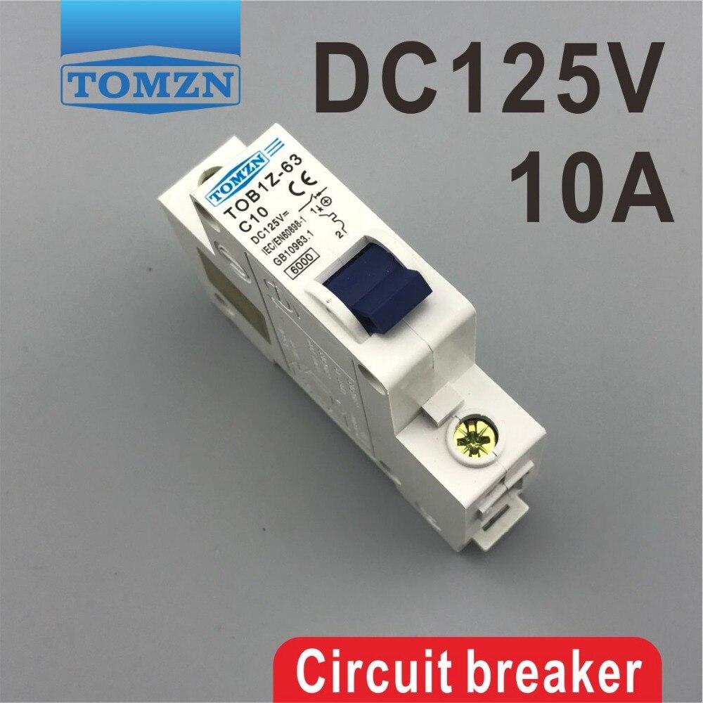1P 10A DC 125V Circuit breaker MCB цена