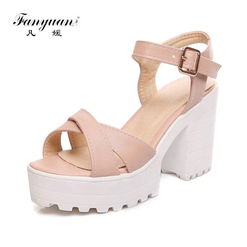 2e160f3194d Cheap Fanyuan talla grande 34 46 elegantes sandalias de plataforma de verano  antideslizantes para mujer Zapatos