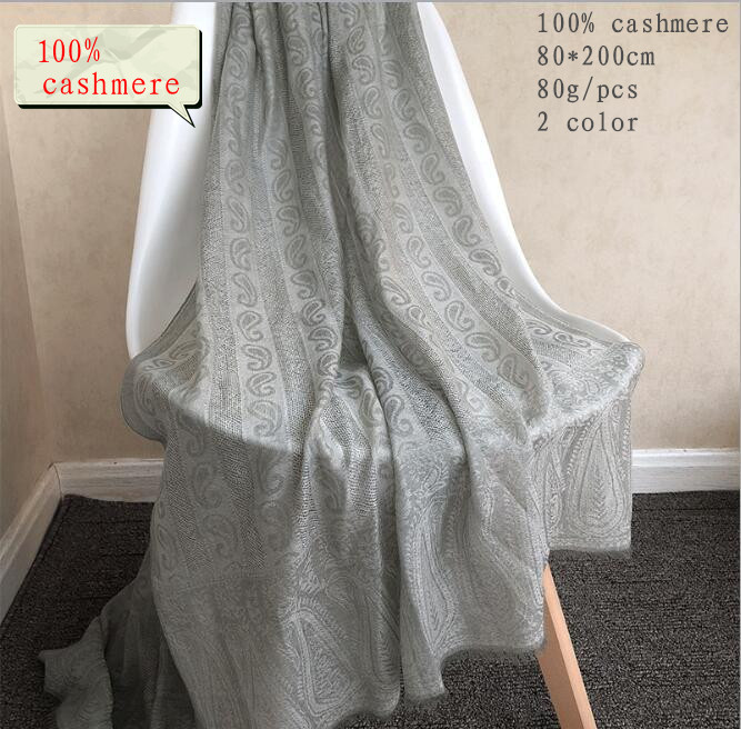 Naizaiga 100% Ring Cashmere 80*200cm Big Summer Sunscreen Pashmina  Air-conditioned Rooms Keep Warm Print Red Shawl ,RJ14