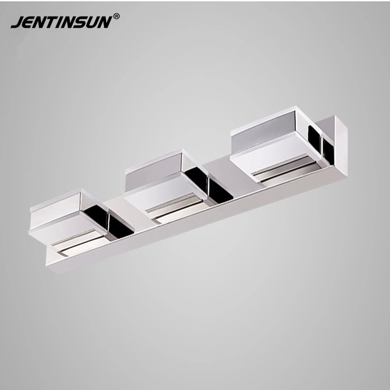 Jentinsun 50cm 9W LED Bathroom Mirror Light White Modern Wall Mounted Lamp lampada de led light Home Lighting Fixtures Sconce modern led bathroom light stainless steel led mirror lamp dresser cabinet waterproof sconce indoor home wall lighting fixtures