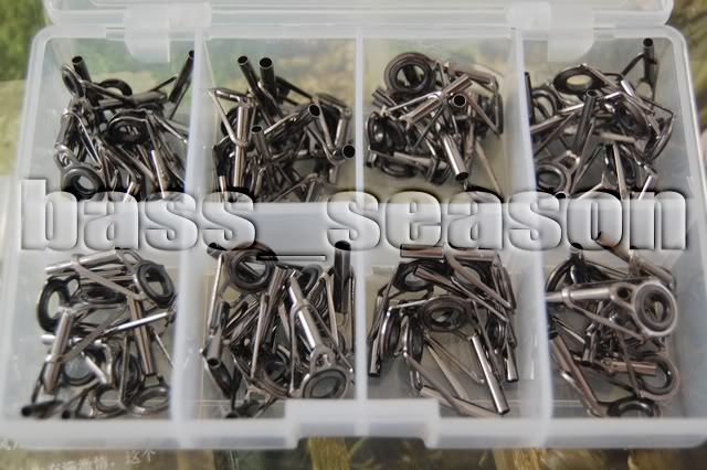 80 X Fishing Rod Parts Tip Tops Stainless DIY Set Kits 8 size in box C