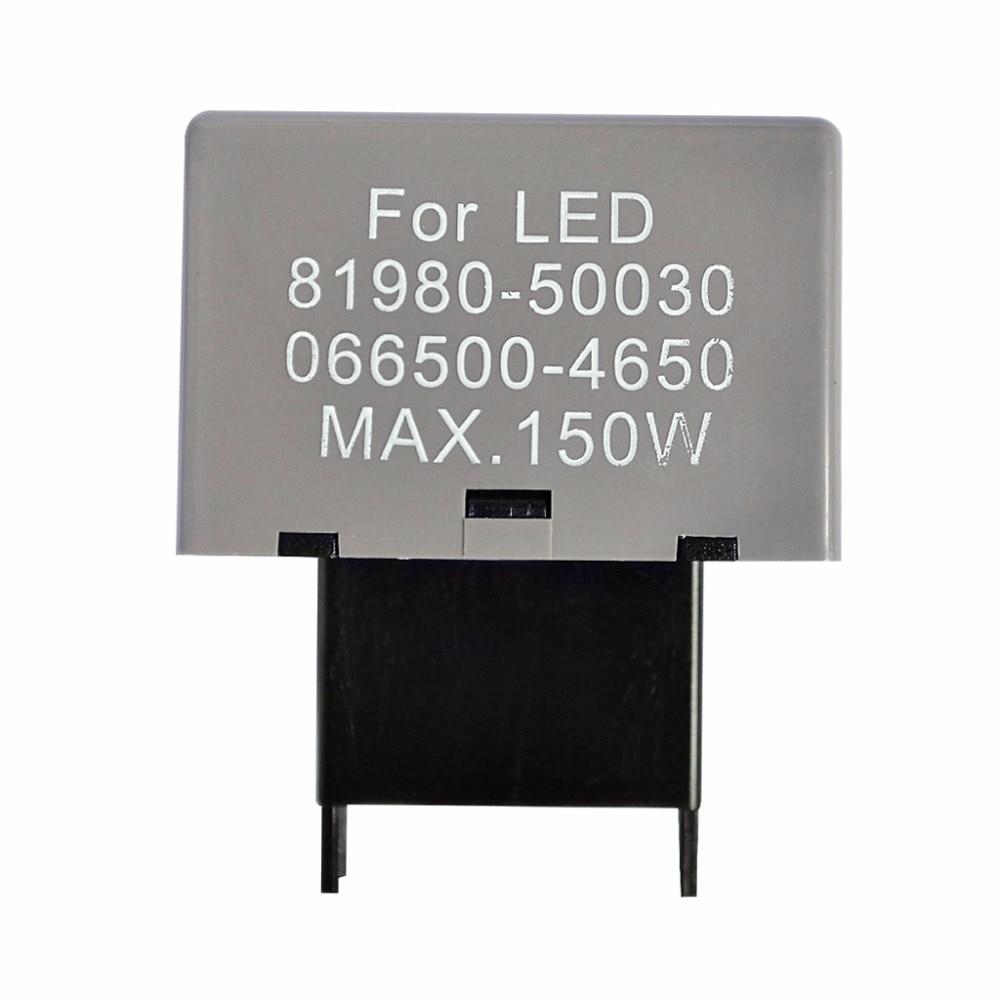 Taochis CF18 LED Flasher 8 Pin Relay Module Fix Car Turn Signal Light Error Flashing Blink 81980-50030 06650-4650 Max 150W