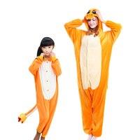 Pajama Kids Girl Boys Kigurumi Little Animated Fire Dragon Cosplay Autumn Winter Teenager Flannel Adult Bodies