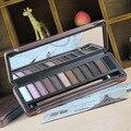 Caja Paleta de 12 Colores de Sombra de Ojos Desnuda Maquillaje de Color Tierra