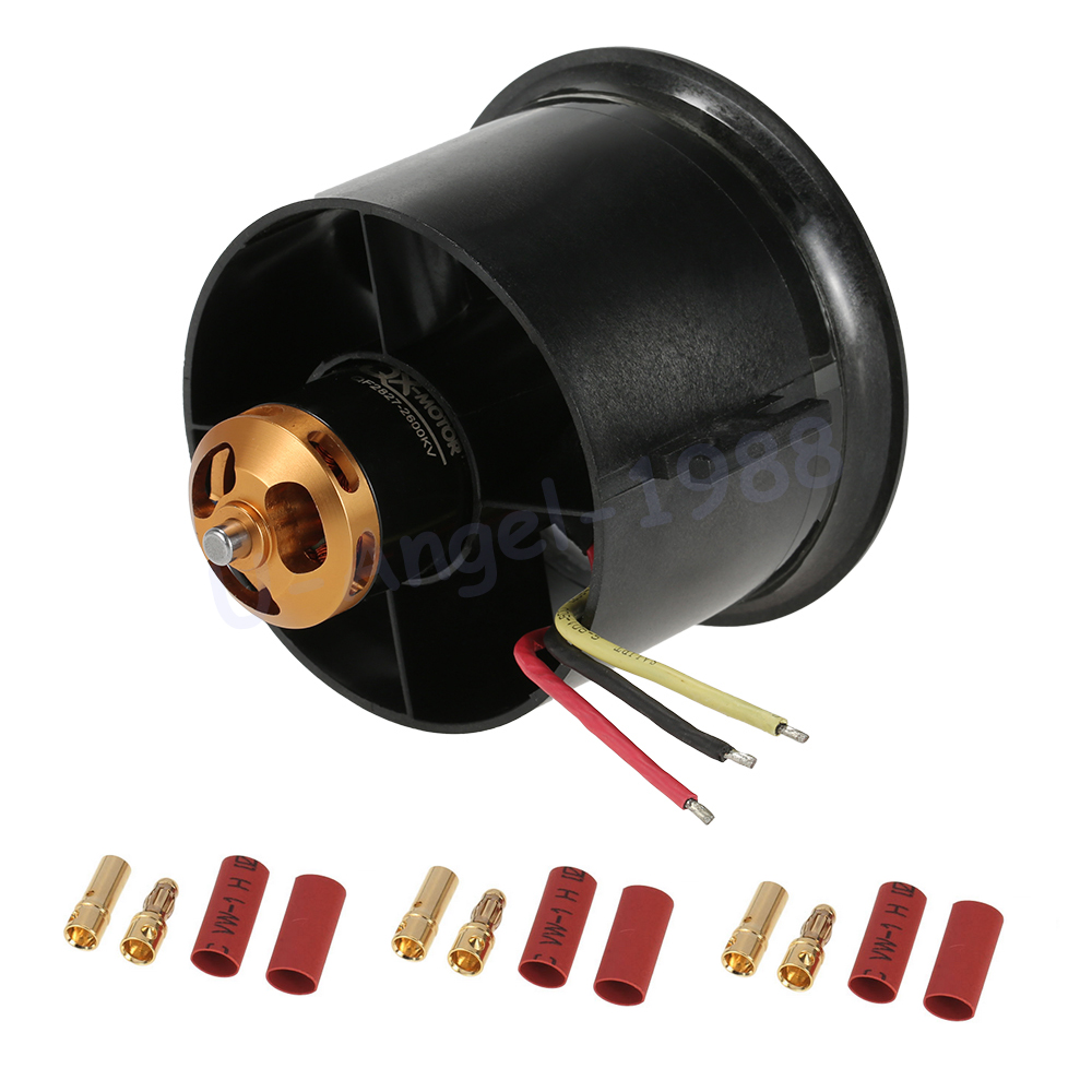Register shipping 1 set RC Motor 70mm EDF Set 2827 2600KV Motor 10 Blades Ducted Fan for RC Airplane image