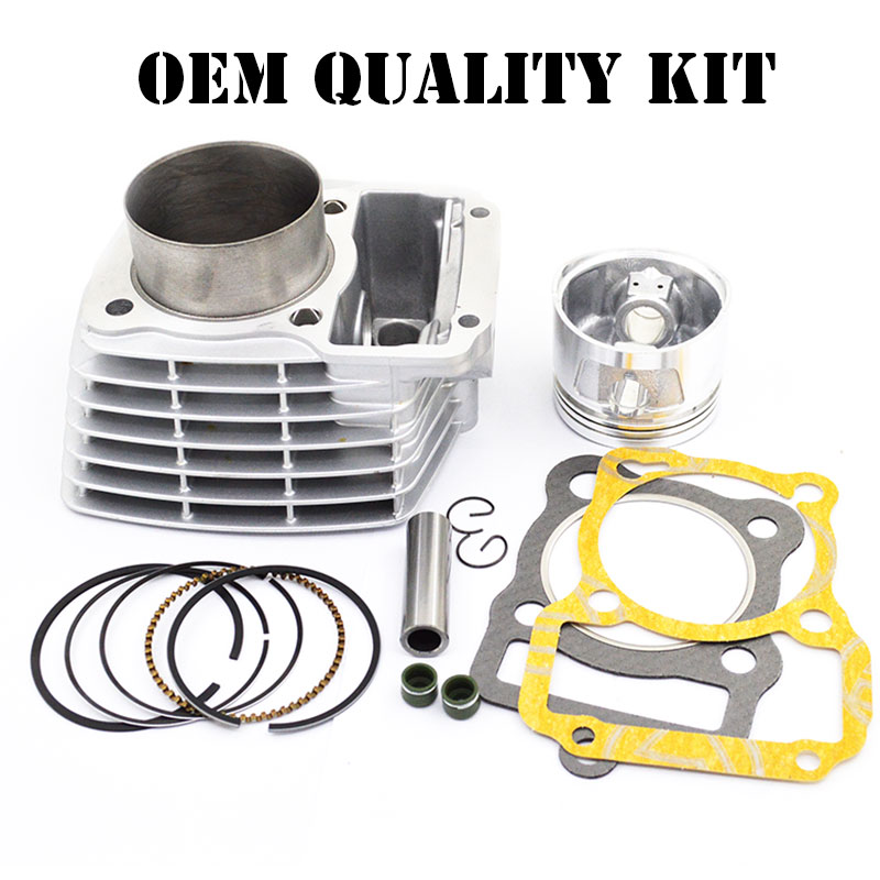 High Quality Motorcycle Cylinder Kit 62mm Bore For Honda CG125 CG 125 Upgrade to 150cc Modified Engine Direct Replacement high quality motorcycle cylinder kit for yamaha ybr125 modified to ybr150 125cc upgrade to 150cc engine spare parts