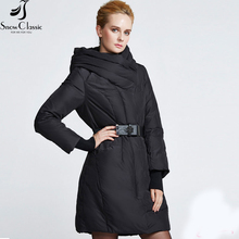 Snowclassic Parka Women jackets winter 2016 long sashes female jacket  parkas for women winter jackets and coats 16260L