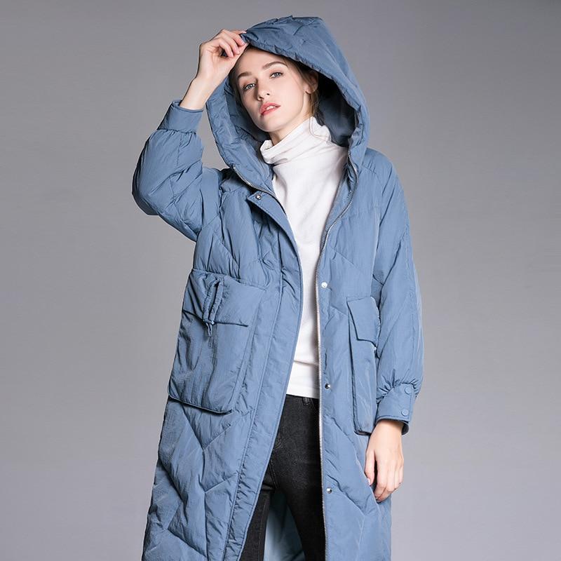 Plus   down   jacket, 2018 winter jacket women's   down   jackets white duck   down   outerwear women   down     coat   loose   coat