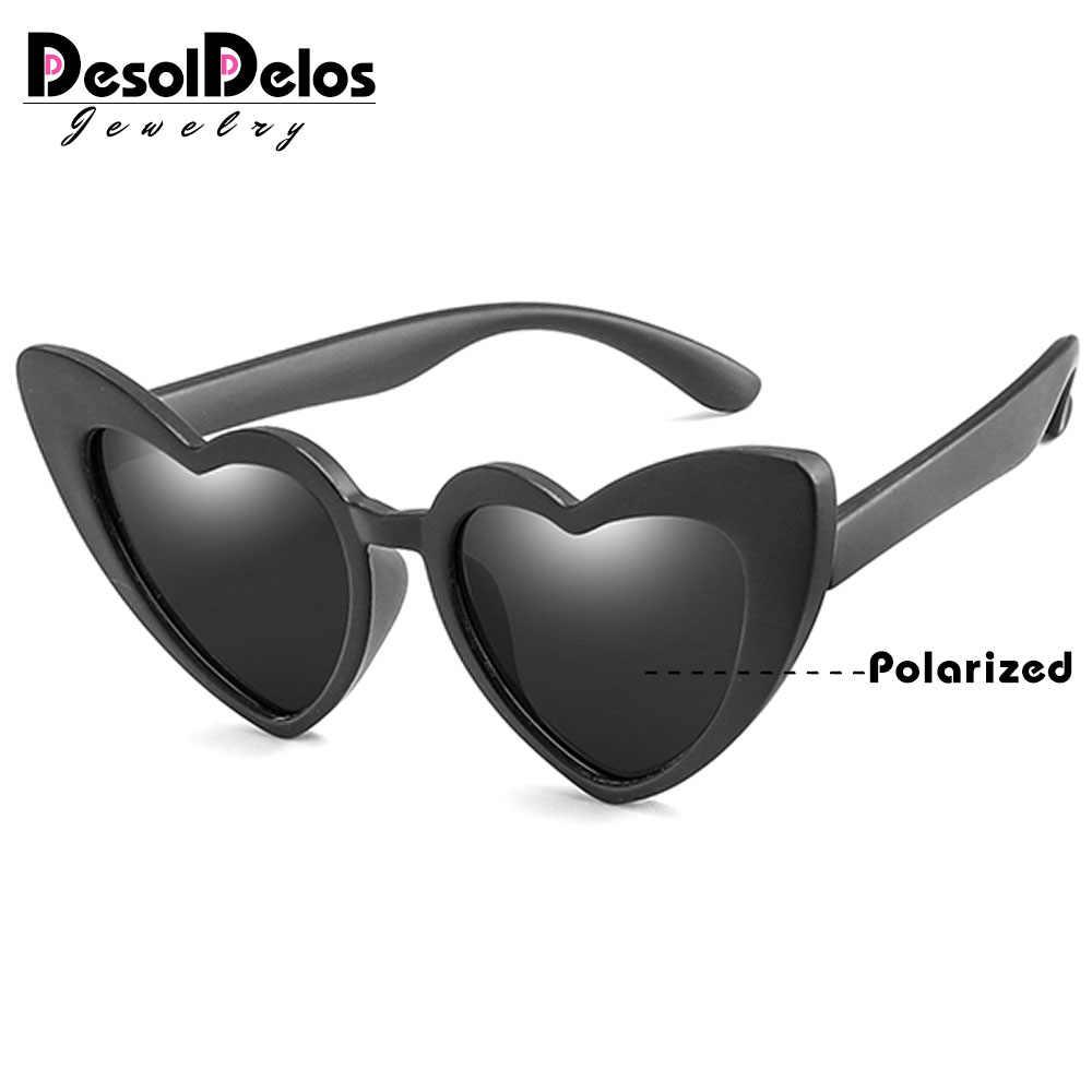 ยืดหยุ่นแว่นตากันแดดเด็ก Polarized เด็กสีดำแว่นตา Sun สำหรับเด็กทารกแว่นตากันแดดแว่นตา 2-11 ปีเด็กแว่นตา d321