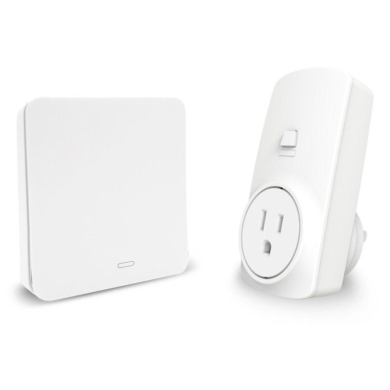 Us Plug Wireless Socket Kit With Kinetic Self Powered Wireless Switch Remote Control Echo Alexa Google Home Voice Control