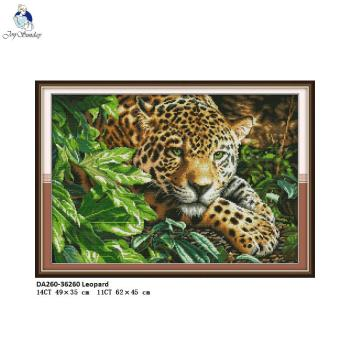 Leopard Animal Painting Embroidery DIY Hand Counted Printed On Canvas DMC 14CT and 11CT Chinese Cross Stitch Needlework Sets swing handmade dmc cotton thread printed canvas cross stitch embroidery kit 14ct 11ct counted and stamped diy needlework crafts