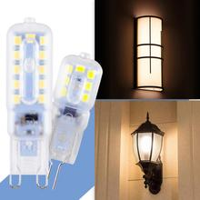 4PCS G9 LED Bulb Corn Lamp 3W 5W Bombilla 220V G4 2835 Lampada g9 Dimmable Candle Replace Halogen Light