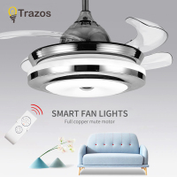 TRAZOS Modern White Kids Ceiling Fans With Lights Bedroom Ceiling Light Fan 220V Children Ceiling Fan Ventilador De Techo
