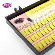 Ресницы 3d для макияжа ресницы 010 мм c изгиб натуральные длинные