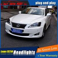 Автомобиль укладки нового светодио дный фара для Lexus IS250 светодио дный фары 2006 2012 для IS250 drl H7 hid Би ксеноновые линзы Ангел глаз ближнего света