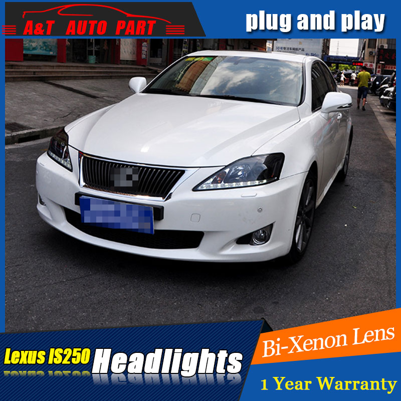 Auto part Style LED Head Lamp for Lexus IS250 led headlights 2006-2009 for IS250 drl H7 hid Q5 Bi-Xenon Lens angel eye low beam maserati granturismo carbon spoiler