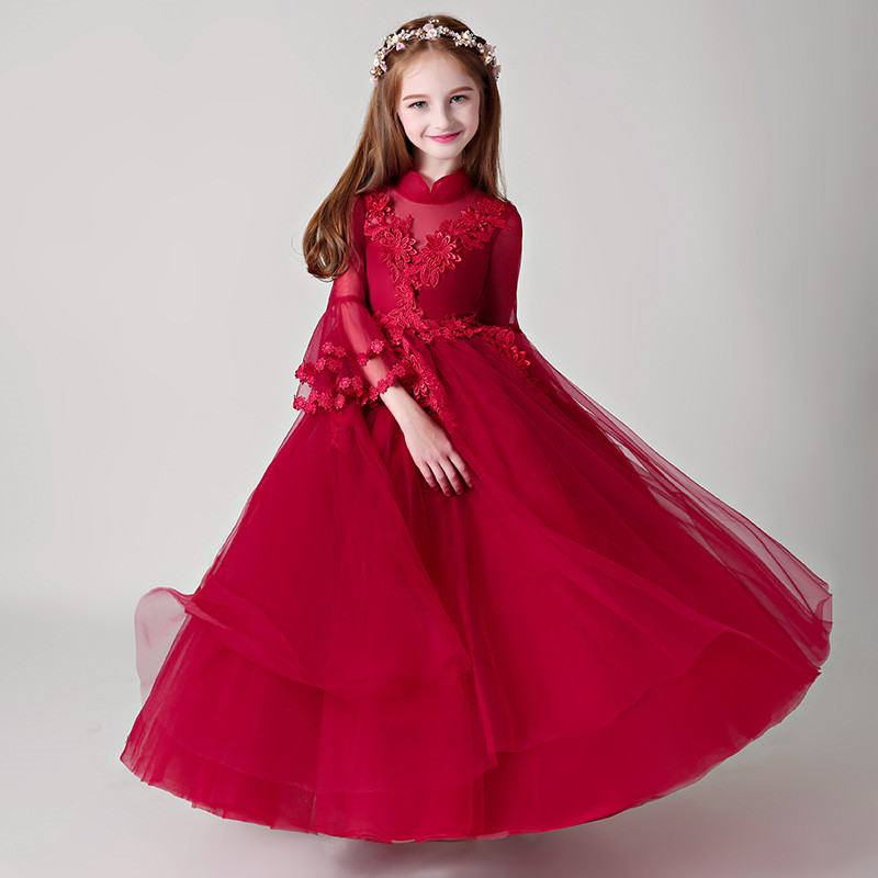 381d117b175 2019 Kids Girl Elegant Lace Birthday Party Dress Teen Girl Tulle Wedding  Vestido Children Clothing Princess Prom Ball Gown Q781 - aliexpress.com -  imall.com