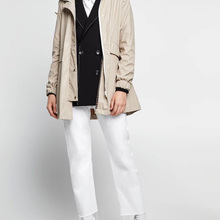Yidora/ женский черный/бежевый водонепроницаемый с капюшоном Parker плащ-дамский плащ с капюшоном ветровка плащ верхняя одежда
