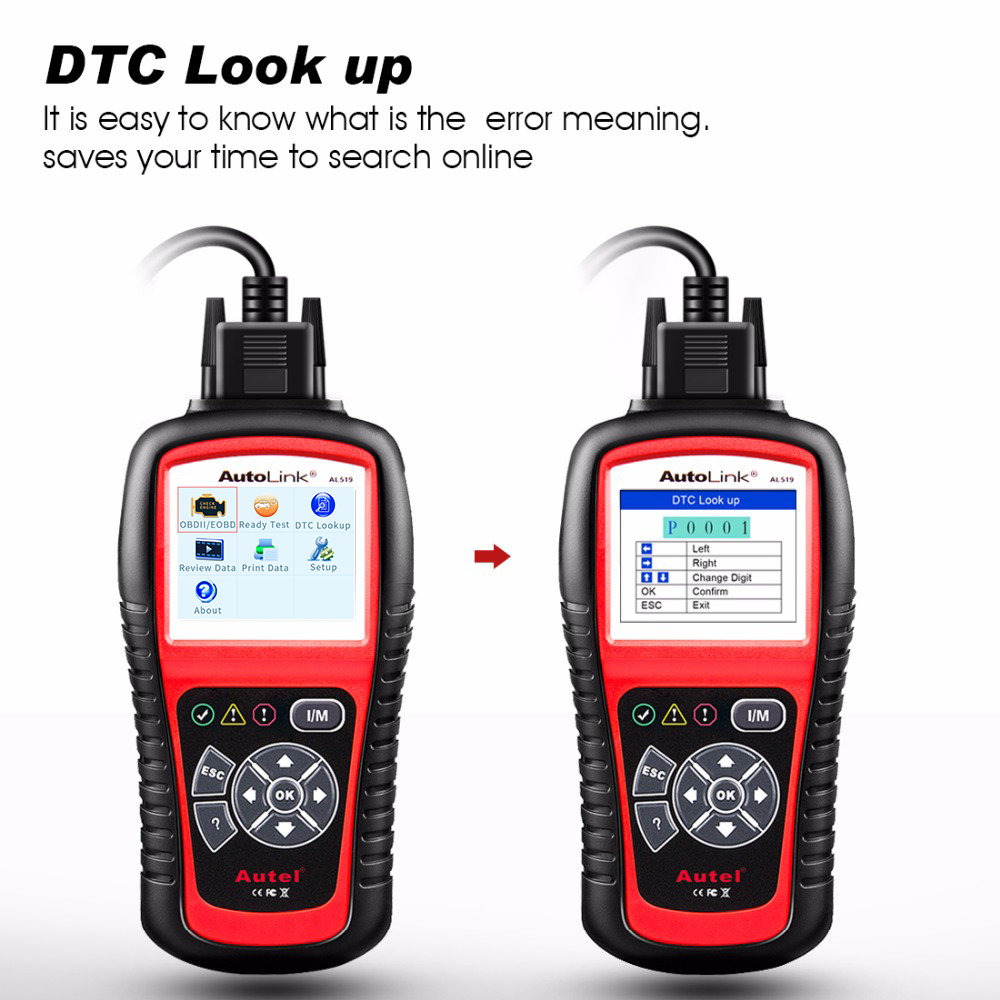 Image 5 - Autel AutoLink AL519 OBD2 Scanner Car Diagnostic Tool  Car DTC Reader Scan  OBDII  Code Reader OBD 2 II Scanner Automotive-in Code Readers & Scan Tools from Automobiles & Motorcycles