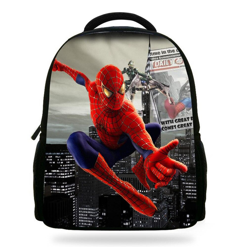 Us 1558 20 Off14 Inch Keren Spiderman Anak Tas Sekolah Untuk Remaja Laki Laki Kartun Kids Backpack Spiderman Pencetakan Untuk Gadis Bookbag In Tas
