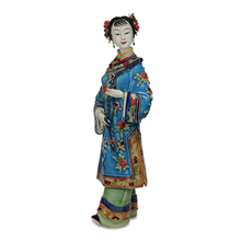 Antique Chinese Lady Ceramic Statue BingPi Pure Manual Figure Craft Collectible Porcelain Figurine Christmas Vintage Home Decor