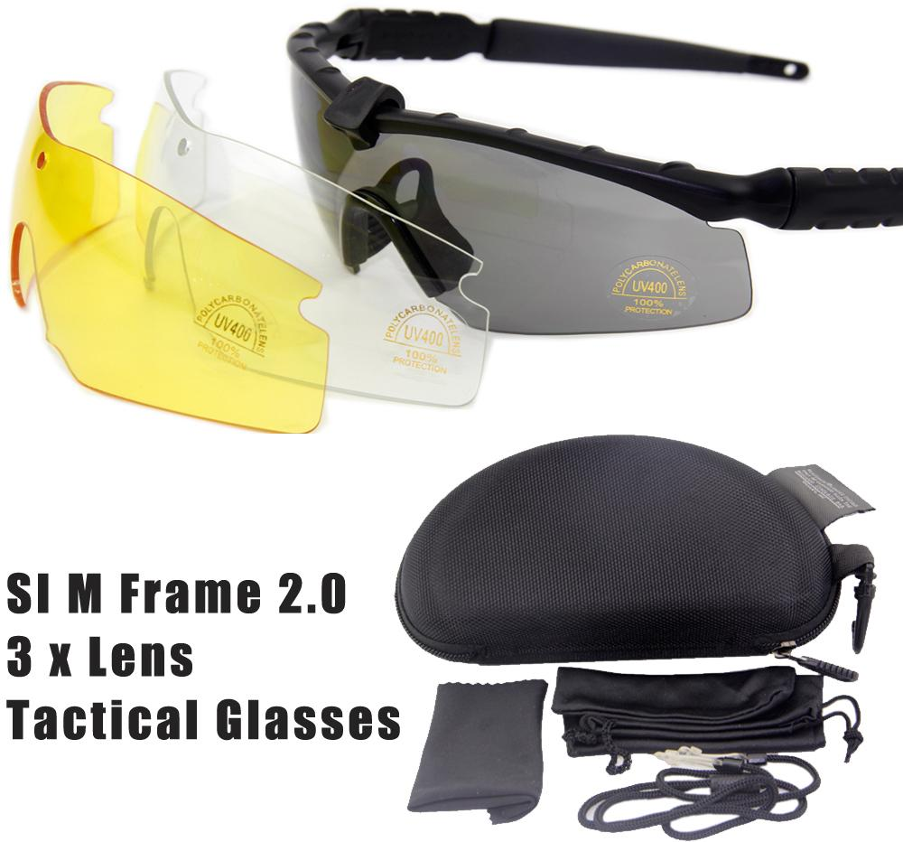buy us standard issue m frame 20 3 lenses tactical goggles eyewear army shooting glasses for