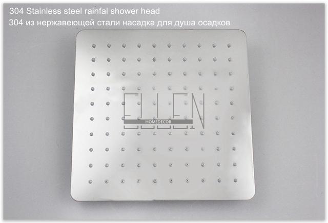 Koupelnový sprchový set na stěnu v moderním stříbrném provedení