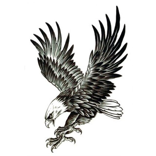 5 stucke fliegenden adler fake tattoo arm vogel korperkunst hawk tattoos fur mann wasserdicht temporare tattoo