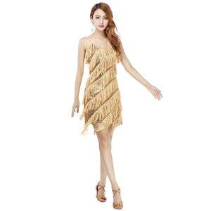 Image 1 - 2018 באיכות גבוהה סקסי ציצית ריקוד לטיני שמלת ריקוד לטיני שוליים תלבושות עבור נשים על מכירה