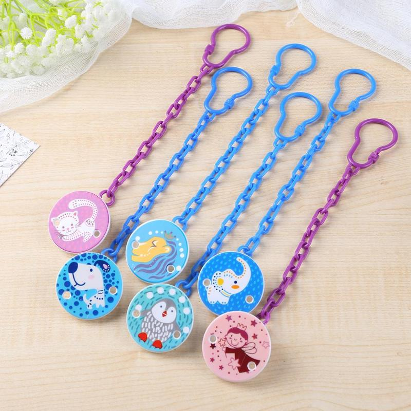 Sillcone Pacifier Clips Newborn Baby Pacifier Toddler Chain Infant Anti-drop Dummy Clip Nipple Holder Teether Soother Chew Toy
