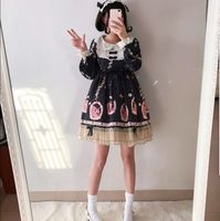Autumn And Winter Japanese Sweet Girl Lolita Dress Western Style Daily Cute Girl Student A Line