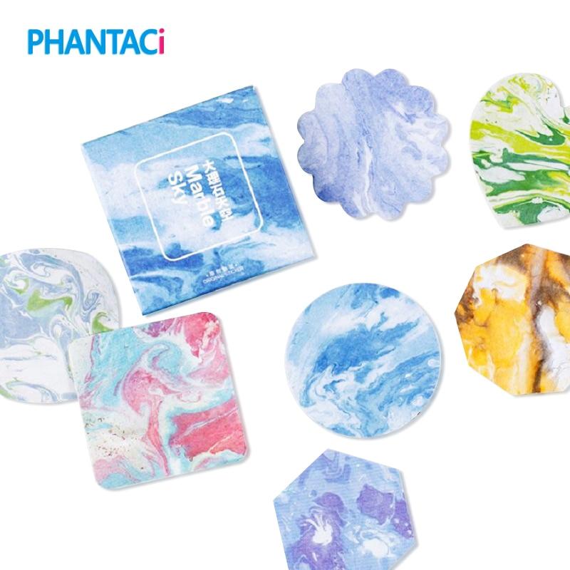 45 pcs/set Cute Marble Watercolor Adhesive Paper Sticker DIY Decoration Album Diary Scrapbooking Label Sticker Stationery School