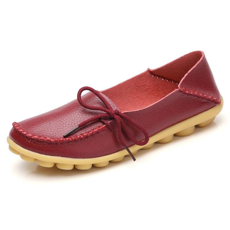 2017 Nueva Moda Mujeres Zapatos Planos Ocasionales Femeninos Madre Suave Cómodo