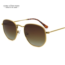 Fashion Suncristal Ultra Light Sunglasses Luxury Shield Shape Gold Metal Frame High Quality  UV400 Polaroid Lens RFT7002