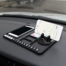 car Instrument panel storage mat Non-slip mat Mobile Multifunctional phone holder Car temporary parking card number auto