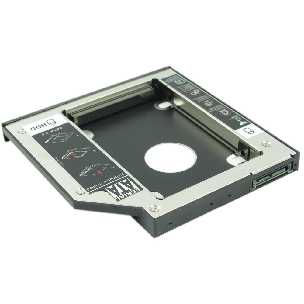 for Asus k53e X53S F83VF X53Sm NEW 2nd SATA HARD DRIVE Caddy HDD SSD Adapter