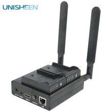 Unisheen H.265 H.264 SRT Video Encoder 2.4G 5.8G WIFI HDMI Ultra Long Life Vmix Wowza Youtube Facebook ip Rtmpsที่ถ่ายทอดสด