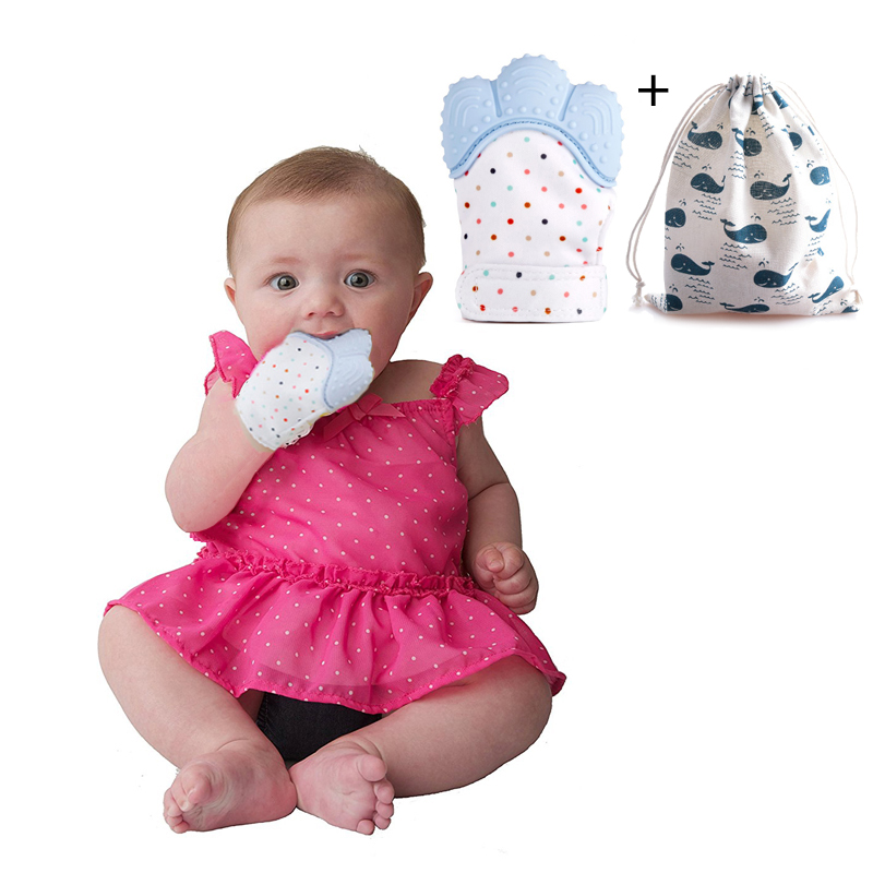 Gloves Baby Teether Infant Teething Biting For Baby Dental ...