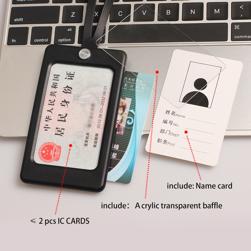Купить с кэшбэком DEZHI Candy Colors Silica Gel ID Card Holder with Soft Neck Strap for Office Pass Card, LOGO Customize Badge Holder