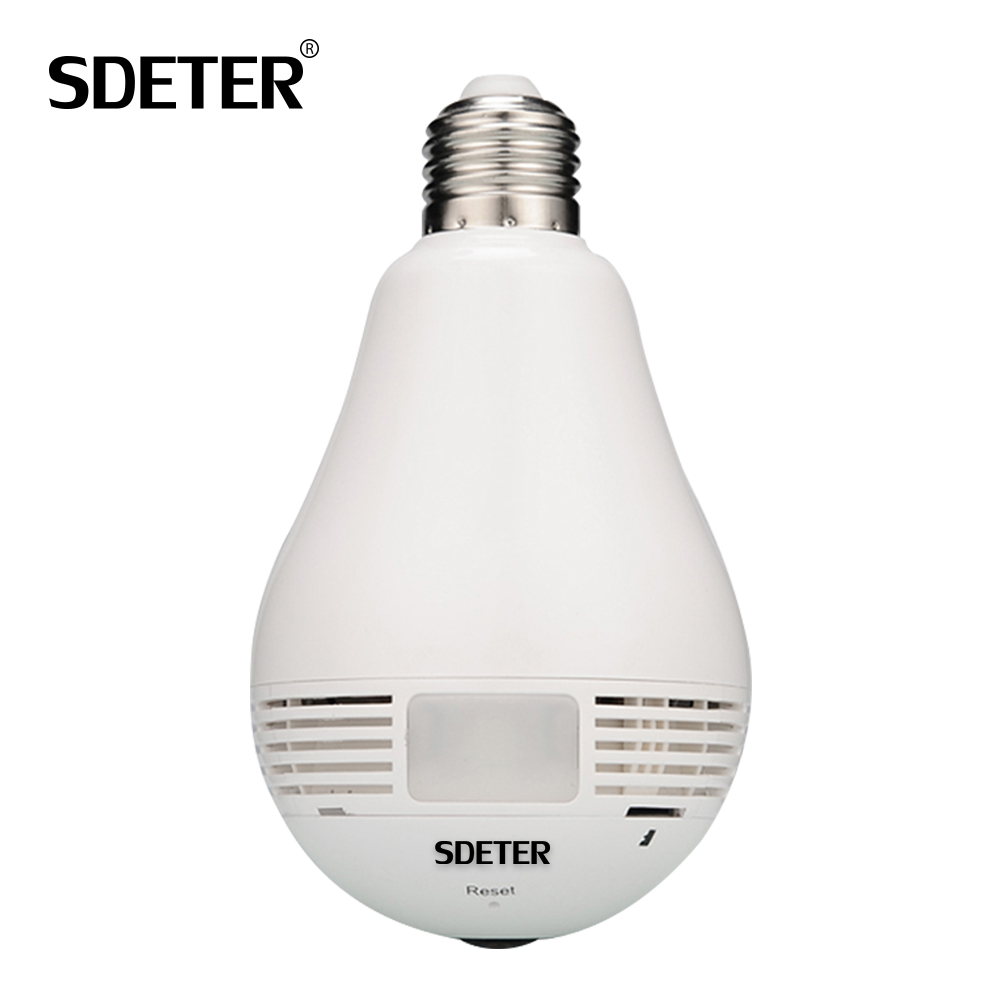 Bulb Light IP Camera 360 Degree Video Surveillance CCTV Camera Wireless Wi-Fi Bulb Lamp Fisheye Panoramic P2P Home Security 960P ysa 1080p 960p 360 degree lamp bulb wireless ip cameras wi fi fisheye security cctv panoramic two way audio 2mp ir p2p light cam