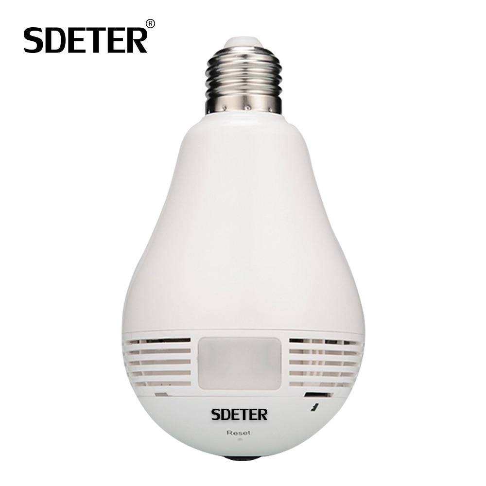 Bulb Light IP Camera 360 Degree Video Surveillance CCTV Camera font b Wireless b font Wi