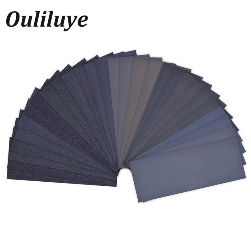 Wet Dry Sand Paper Wood Abrasive Paper Sheets Polishing Sanding Waterproof Sandpaper Grit 1000 2000 3000 Emery Abrasive Paper