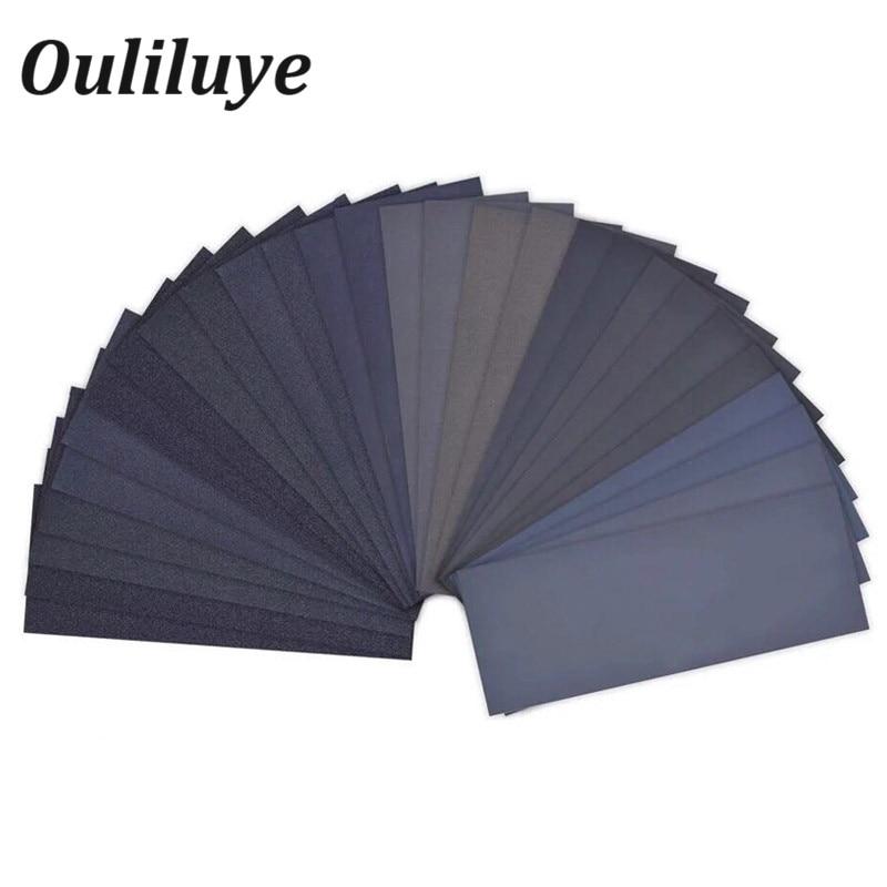 Wet Dry Sand Paper Wood Abrasive Paper Sheets Polishing Sanding Waterproof Sandpaper Grit 1000 2000 3000 Emery Abrasive Paper