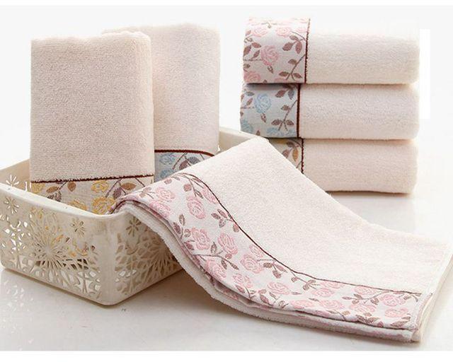 Bellezza rosa fiori modello viso asciugamani panno di stile cinese semplice fior